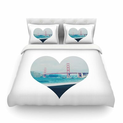 San Francisco Love Coastal by Chelsea Victoria Featherweight Duvet Cover Size: King