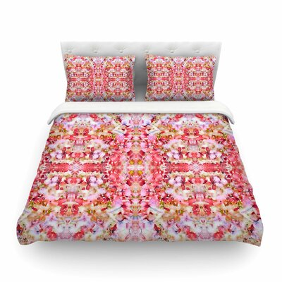 Floral Reflections by Carolyn Greifeld Featherweight Duvet Cover Size: Twin
