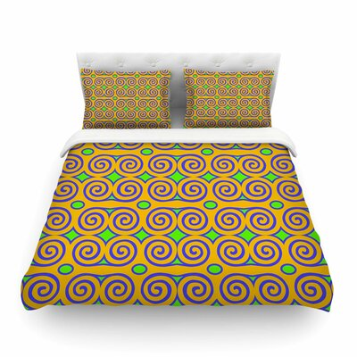 Locked Rams Horns-Clear Day Digital by Dan Sekanwagi Featherweight Duvet Cover Size: King