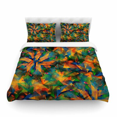 No Way Out Green Abstract by Danny Ivan Featherweight Duvet Cover Size: King