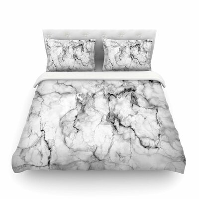 Marble No Modern by Chelsea Victoria Featherweight Duvet Cover Size: Full/Queen