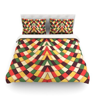 Rastafarian Tile by Danny Ivan Featherweight Duvet Cover Size: King