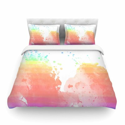 Color Splatter by Chelsea Victoria Featherweight Duvet Cover Size: Full/Queen