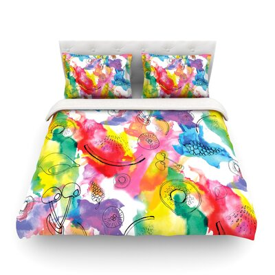 Fruits Rainbow by Danii Pollehn Featherweight Duvet Cover Size: Full/Queen