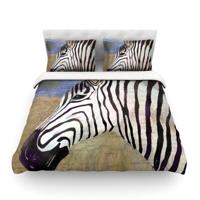 Zebransky by Catherine Holcombe Featherweight Duvet Cover Size: Full/Queen