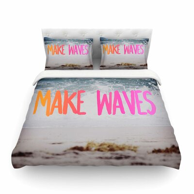 Make Waves Photography by Chelsea Victoria Featherweight Duvet Cover Size: King