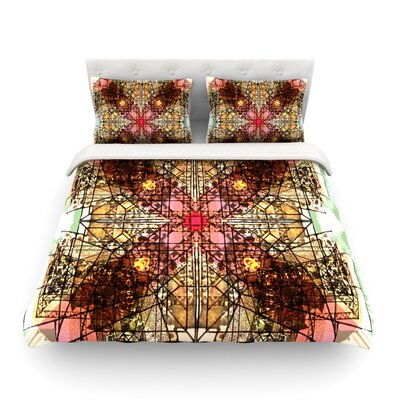 Viereck Geometric by Danii Pollehn Featherweight Duvet Cover Size: King