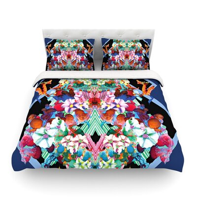 Herz Blue Floral by Danii Pollehn Featherweight Duvet Cover Size: King