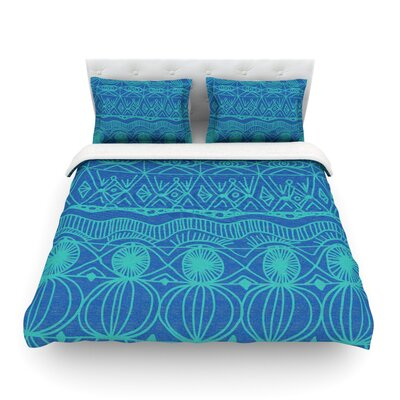 Beach Blanket Confusion by Catherine Holcombe Featherweight Duvet Cover Size: King
