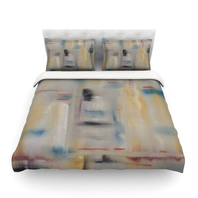 Library Painting Abstract by Cathy Rodgers Featherweight Duvet Cover Size: Full/Queen