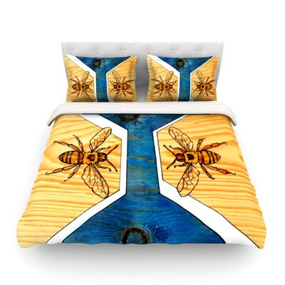 Bees by Brittany Guarino Featherweight Duvet Cover Size: Twin