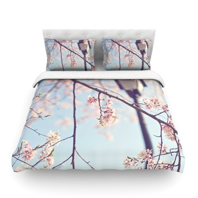 Walk with Me Cherry Blossom by Catherine McDonald Featherweight Duvet Cover Size: Twin