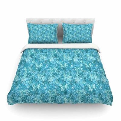 Painterly Blues Abstract by Carolyn Greifeld Featherweight Duvet Cover Size: Twin