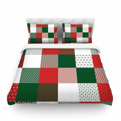 Holiday Patchwork by Carolyn Greifeld Featherweight Duvet Cover Size: King