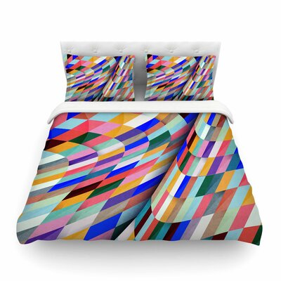 Different Geometric by Danny Ivan Featherweight Duvet Cover Size: King