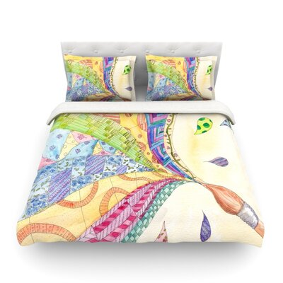 The Painted Quilt by Catherine Holcombe Featherweight Duvet Cover Size: King