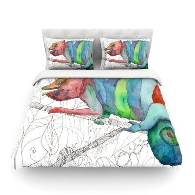 Chameleon Fail by Catherine Holcombe Featherweight Duvet Cover Size: King