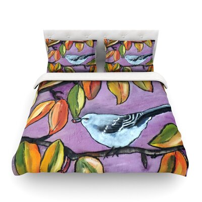 Mockingbird by Cathy Rodgers Featherweight Duvet Cover Size: Full/Queen