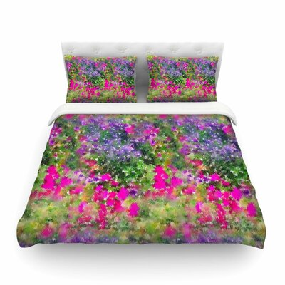 Water Florals by Carolyn Greifeld Featherweight Duvet Cover Size: Twin