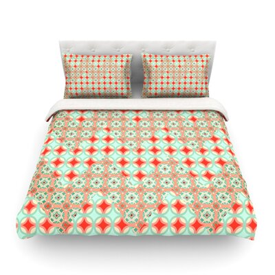 Traveling Caravan by Catherine McDonald Featherweight Duvet Cover Size: King
