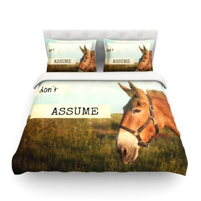 Dont Assume by Catherine McDonald Featherweight Duvet Cover Size: Twin
