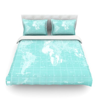Welcome to my World by Catherine Holcombe Featherweight Duvet Cover Size: Twin