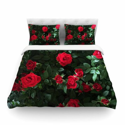 Juliets Garden Floral by Chelsea Victoria Featherweight Duvet Cover Size: Full/Queen