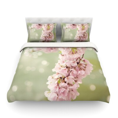 Cherry Blossom by Catherine McDonald Featherweight Duvet Cover Size: Twin
