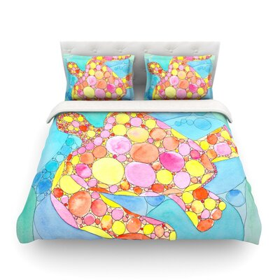 Circle Turtle by Catherine Holcombe Featherweight Duvet Cover Size: Full/Queen