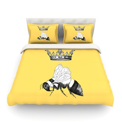 Queen Bee Canary by Catherine Holcombe Featherweight Duvet Cover Size: King