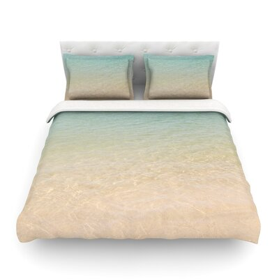 Ombre Sea Beach Photography by Catherine McDonald Featherweight Duvet Cover Size: Twin