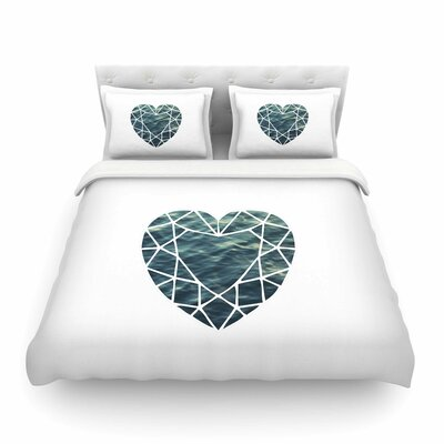 Ocean Love Photography by Chelsea Victoria Featherweight Duvet Cover Size: King