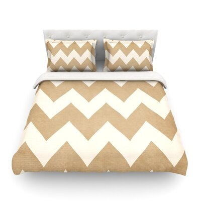 Featherweight Duvet Cover Size: Twin, Color: Biscotti and Cream