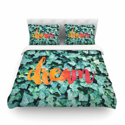 Dream Typography by Chelsea Victoria Featherweight Duvet Cover Size: King