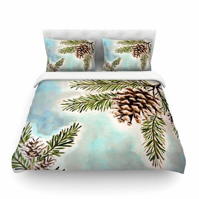 Pinecones and Sky by Christen Treat Featherweight Duvet Cover Size: King