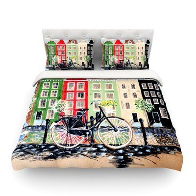 Bicycle by Christen Treat Featherweight Duvet Cover Size: Full/Queen