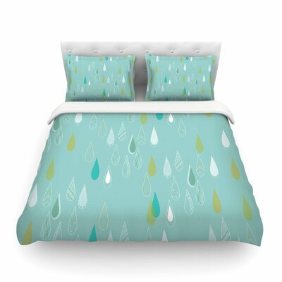 Feathered Rain by Bridgette Burton Featherweight Duvet Cover Size: Twin