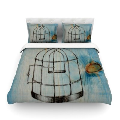 Bird Cage by Brittany Guarino Featherweight Duvet Cover Size: King