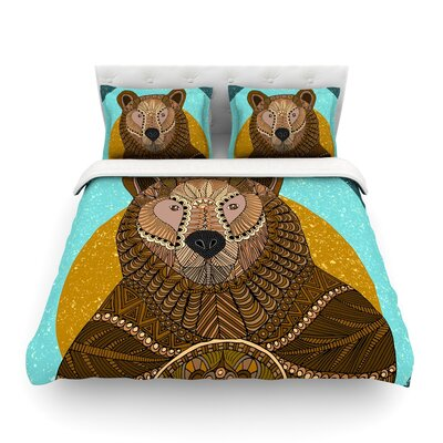 Bear in Grass by Art Love Passion Featherweight Duvet Cover Size: King