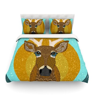 Stag in Grass by Art Love Passion Featherweight Duvet Cover Size: King