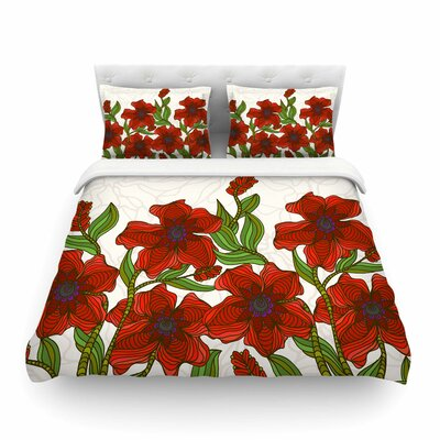 Poppy Field by Art Love Passion Featherweight Duvet Cover Size: King