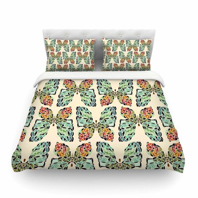 Butterfly Pattern Featherweight Duvet Cover Size: Full/Queen