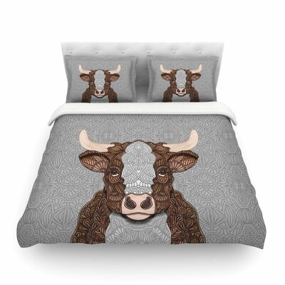 Gustaf The Bull Featherweight Duvet Cover Size: Twin