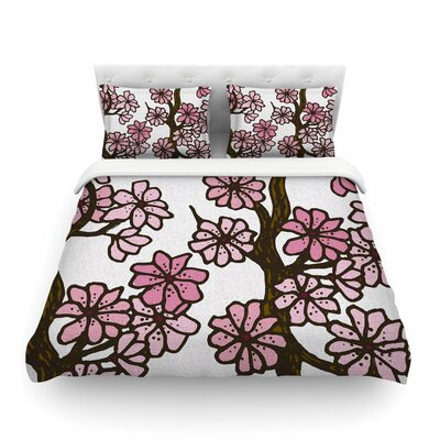 Cherry Blossoms by Art Love Passion Featherweight Duvet Cover Size: Twin