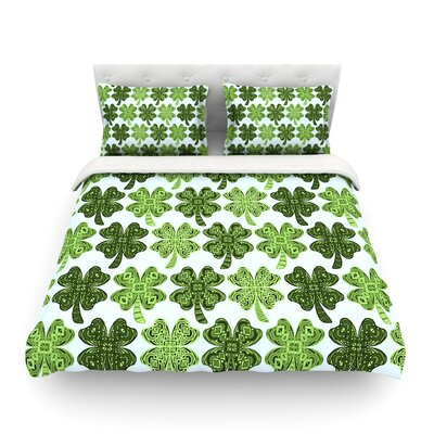Lucky You Shamrock Art Love Passion Featherweight Duvet Cover Size: Twin