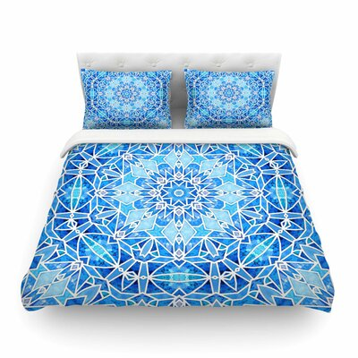 Star Snowflake by Art Love Passion Featherweight Duvet Cover Size: King