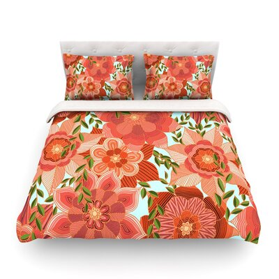 Flower Power by Art Love Passion Featherweight Duvet Cover Size: Twin