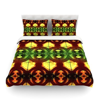 Tribal Marsala by Ann Barnes Featherweight Duvet Cover Size: Full/Queen