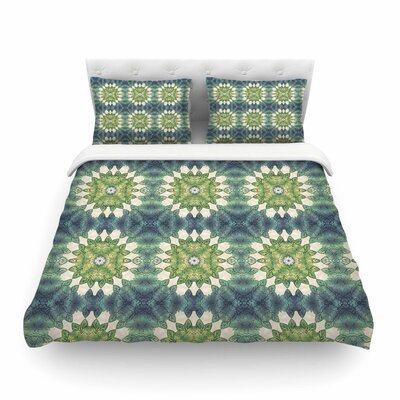 Forest Leaves Pattern Geometric by Art Love Passion Featherweight Duvet Cover Size: King