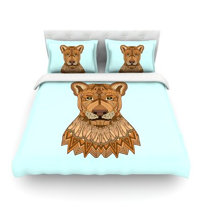 Lioness by Art Love Passion Featherweight Duvet Cover Size: Full/Queen